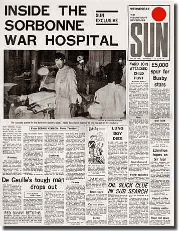 Page from the Sun, Doctor treats injured student inside the Sorbonne