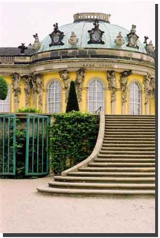 Potsdam Sansoucci Palace. The summer palace of Kigk Frederick the Great built in 1747