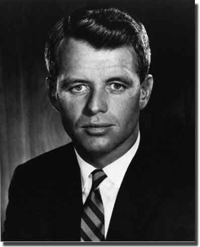 Robert Kennedy. I was watching on US television ehen he was shot down.