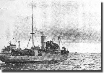 A Rescue Ship at sea with a convoy