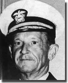 Vice Admiral Frank Fletcher. In command at the Solomons landings, took off his carriers after only 2 days, relieved by Admiral Nimitz.