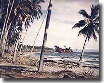 Japanese Cargo ship beached at Guadalcanal