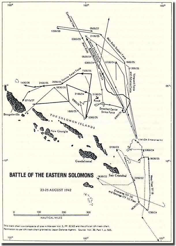 Map  of the Battle of Eastern Solomons