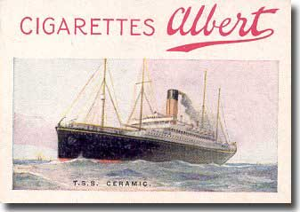 Ceramic on a cigarette card