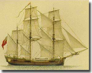 Scarborough, Convict Transport. On her return to England, sailed again with convicts in the Second Fleet.