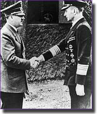 Admiral Karl Donitz head of U-Boat Command with Adolf Hitler