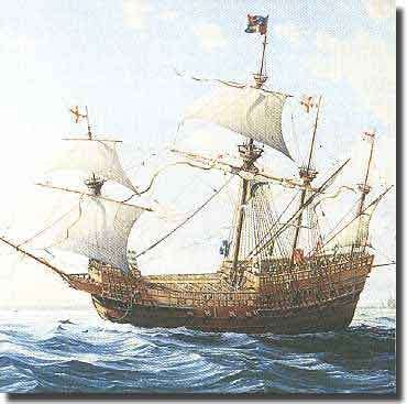 The Mary rose, sunk in the Solent 1545