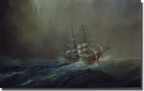 Seeadler painting commissioned by the US Company W R Grace