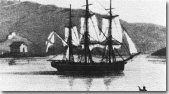 The three masted Russian Sloop Neva visited Sydney in 1807.