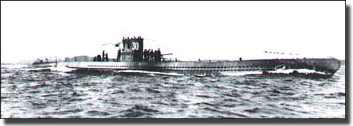 German U-Boat, U-30 on the surface