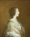 Queen Henrietta Maria who completed the Queen's House at Greenwich in 1635.