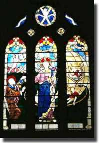 Window in Exeter Cathedral dedicated to HMS Exeter