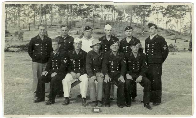 "German POW""S in camp in Australia in WW2."