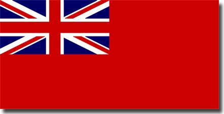 The Red Ensign flown by British Merchant Ships
