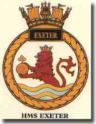 Crest of HMS Exeter