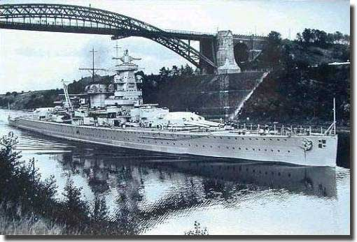 Graf Spee in the Kiel Canal pre WW2.