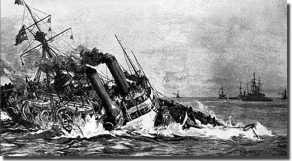 HMS Victoria after her collision