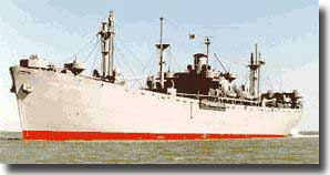 Photo of a Liberty ship. John Brown