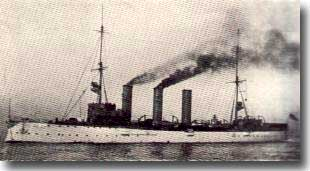German Light Cruiser Konigsberg in WW1