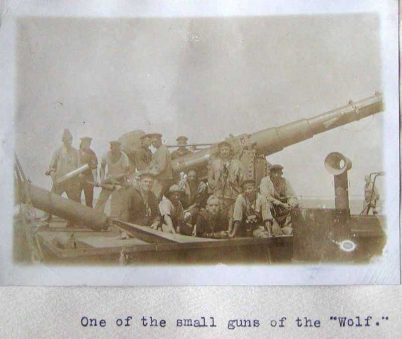 Wolf crew and small gun
