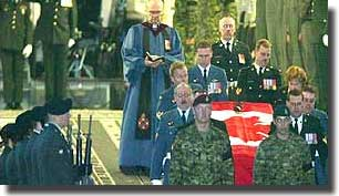 The deaths of 4 Canadian Servicemen through Friendly Fire in Afganistan