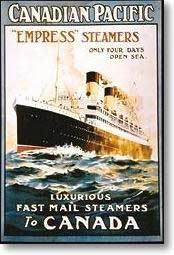 A poster advertising the Empress steamers