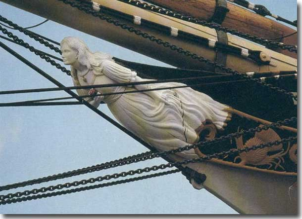 Figurehead on Falls of Clyde, at the Honolulu Maritime Museum.