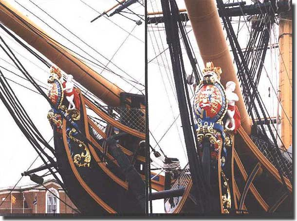 The figurehead from HMS Victory