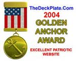 Golden Anchor Website Award for Patriotic Excellence