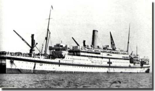 HMHS Asturias, torpedoed but survived to become a cruise ship in 1923
