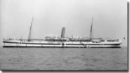 HMHS Glenart Castle torpedoed and sunk 26th. of February 1918