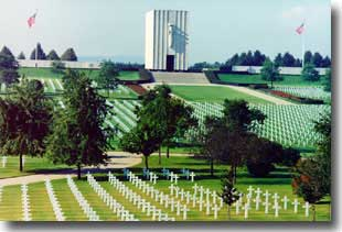 The WW2 Lorraine American Cemetery and Memorial France. Any Service man or woman suffering a Friendly Fire death, may be buried in a cemetery such as this one.