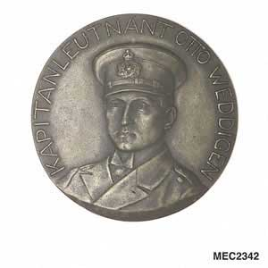 Medal to commemorate sinking cruisers, Aboukir, Hogue and Cressy. September 1914.
