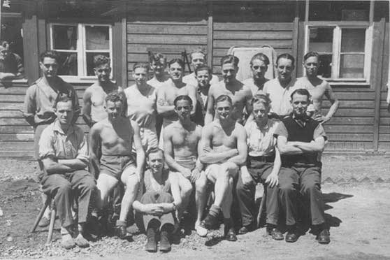 Voltaire prisoners- Norman Hayes front row 3rd from Right