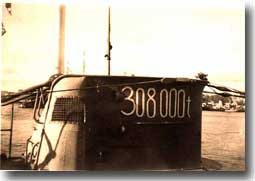 U-48, the most successful German boat in WW2. The tonnage sunk is reproduced on her conning tower