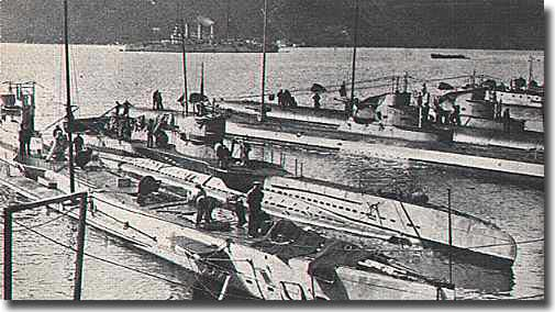 German U-Boats in WW1, at Cattaro