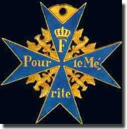 The Pour le Merite awarded to Otto Weddigen for his sinking of three British Cruisers, Aboukir, Hogue, and Cressy