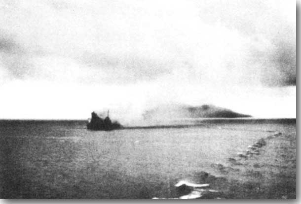 Canberra sinking