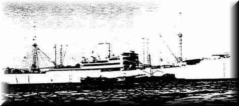 "The German Armed Merchant Raider ""Kormoran"" sunk in the battle with H.M.A.S. Sydney."